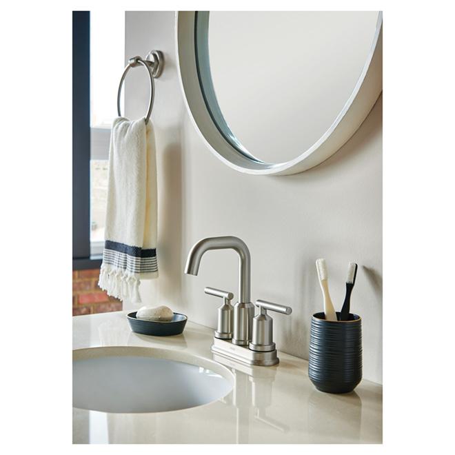Robinet de salle de bains gibson 2 poign es 4 nickel for Robinet salle de bain rona
