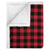 Red and Black Polyester Throw - 50