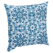 Patio Decorative Cushion - Kingsbury - White/Blue