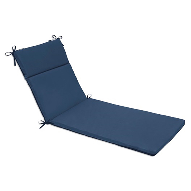 coussin pour chaise longue polyester 22 x 70 bleu rona. Black Bedroom Furniture Sets. Home Design Ideas