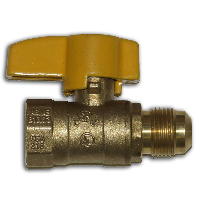 "1/2"" Flare x 1/2"" Female Brass Gas Ball Valve"