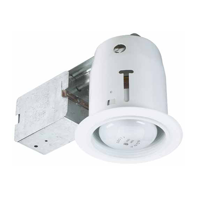 "Recessed Fixture 3 7/8"" with White Baffle"