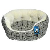 Dog Pet Bed - 55 cm - Grey/White