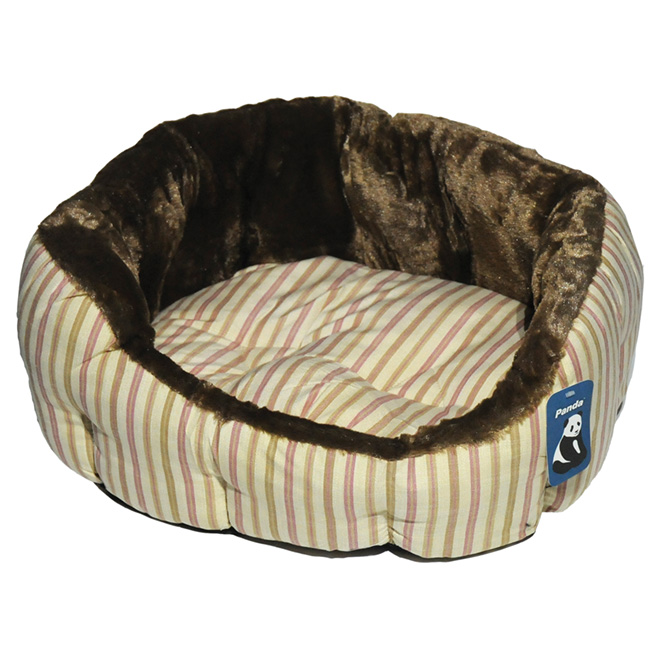 Dog Pet Bed - 55 cm - Beige/Brown