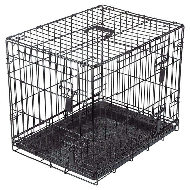 Wire 2-Door Dog Crate with Divider - Small