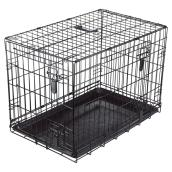 Wire 2-Door Dog Crate with Divider - Medium