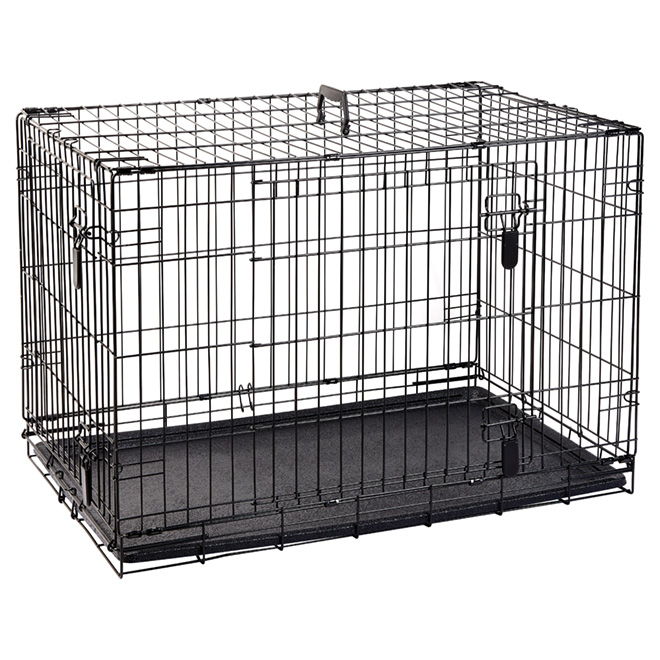 Wire 2-Door Dog Crate with Divider - Large