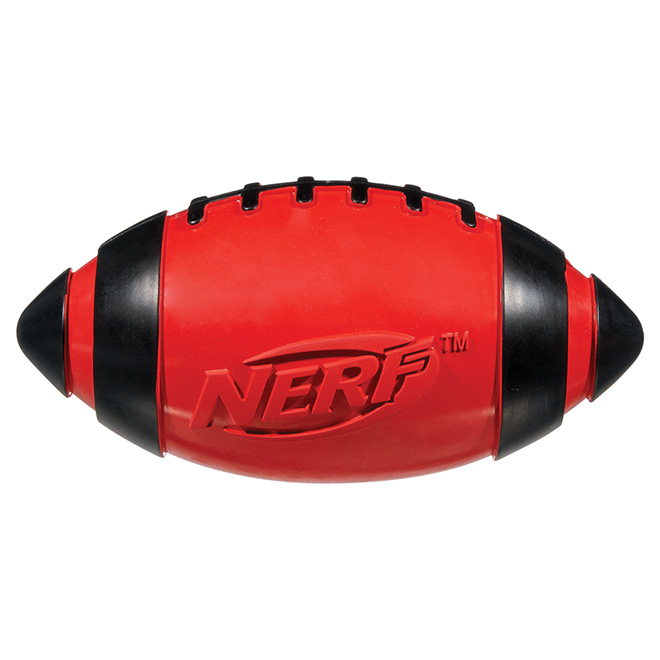 Squeaker Football Dog Toy - 7""