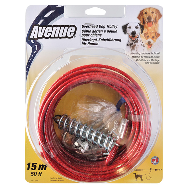 Overhead Dog Trolley Cable - 15 m