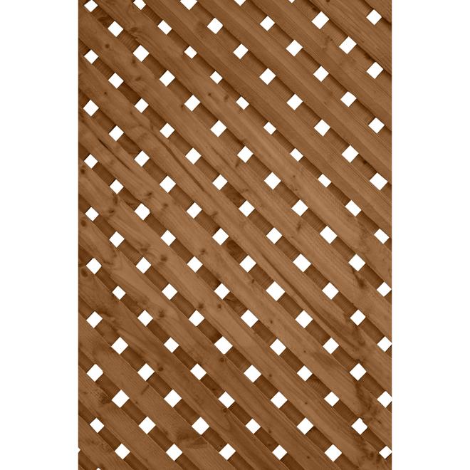 Treillis super intimit en bois trait brun 2 39 x 8 39 rona - Treillis pour terrasse ...