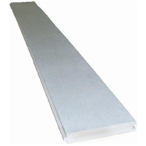 Planche embouvet e pour terrasse avantage gris rona for Planche pvc exterieur