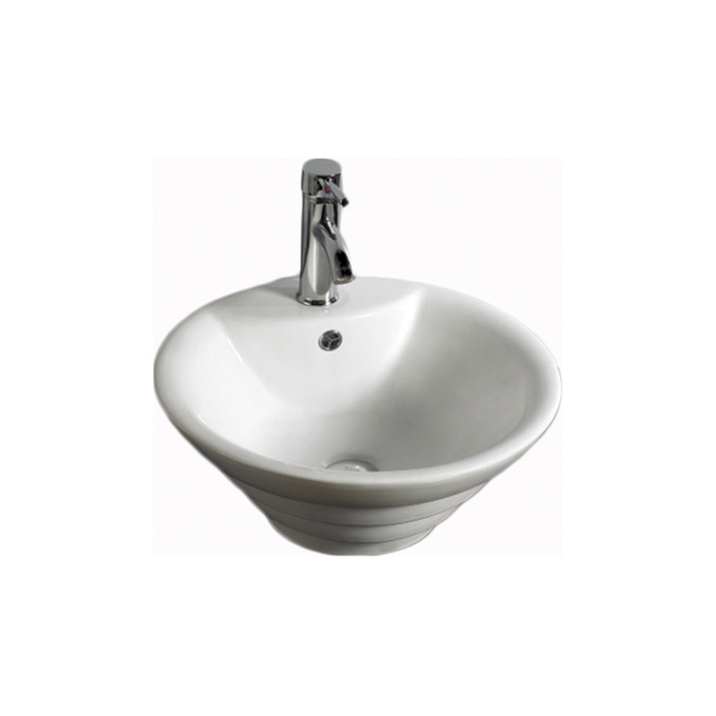 Vasque ronde vanessa 18 1 2 blanc rona for Lavabo salle de bain rona