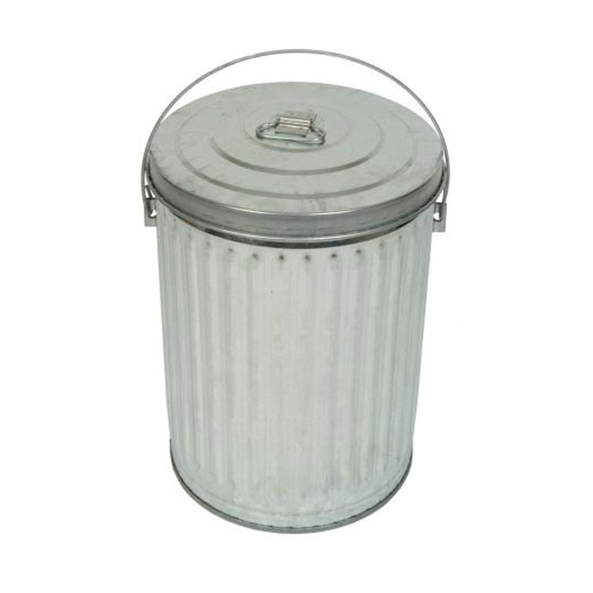 41-L Galvanized Steel Garbage Can