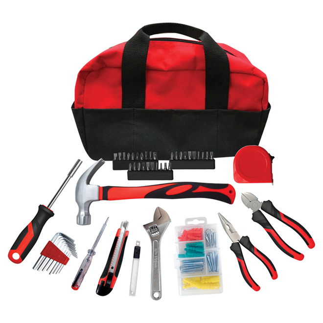 Hand Tool Set with Bag - 58 Pieces