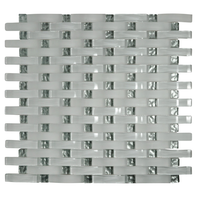 Glass Mosaic Wall Tile - Ultra White - Box of 7