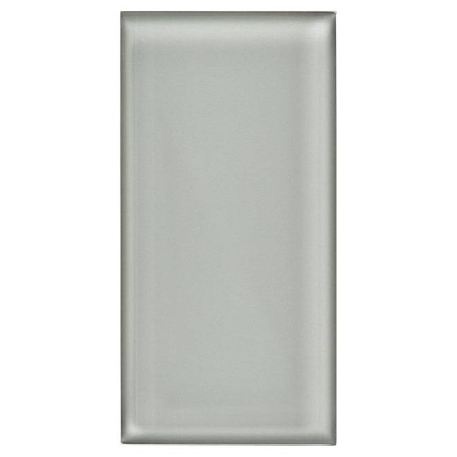 Glass Brick Wall Tile - Super Shiny Grey