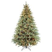 Illuminated Tree - 1445 Tips - 7' - PVC/Metal - Green