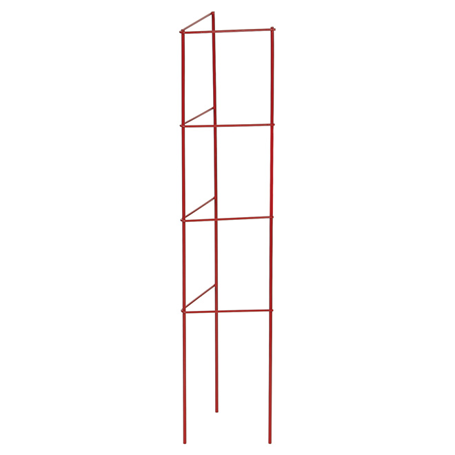 """Ladder"" Metal Tomato and Plant Cage - 33"" - Red"