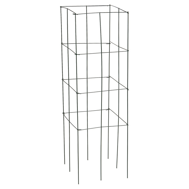 "Square Metal Tomato and Plant Cage - 47"" - Green"