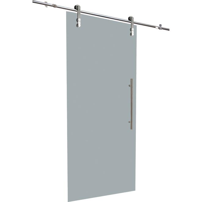 Glass sliding door with rail 33 x 84 rona for 84 sliding glass door