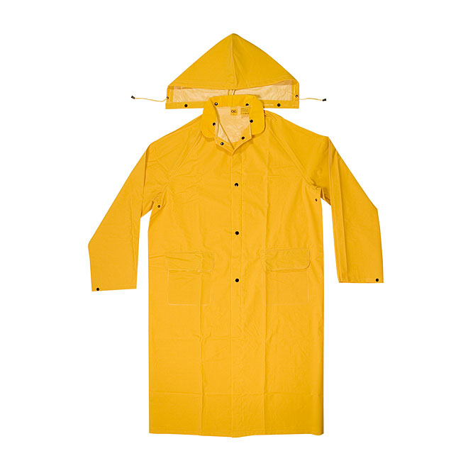 Yellow Trench Coat with Detachable Hood - Large