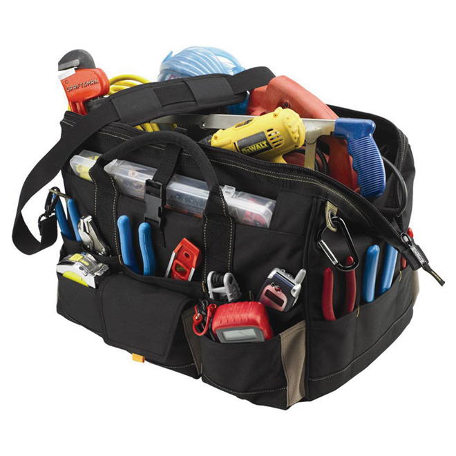 Tool Bag with Top Plastic Tray - 18""
