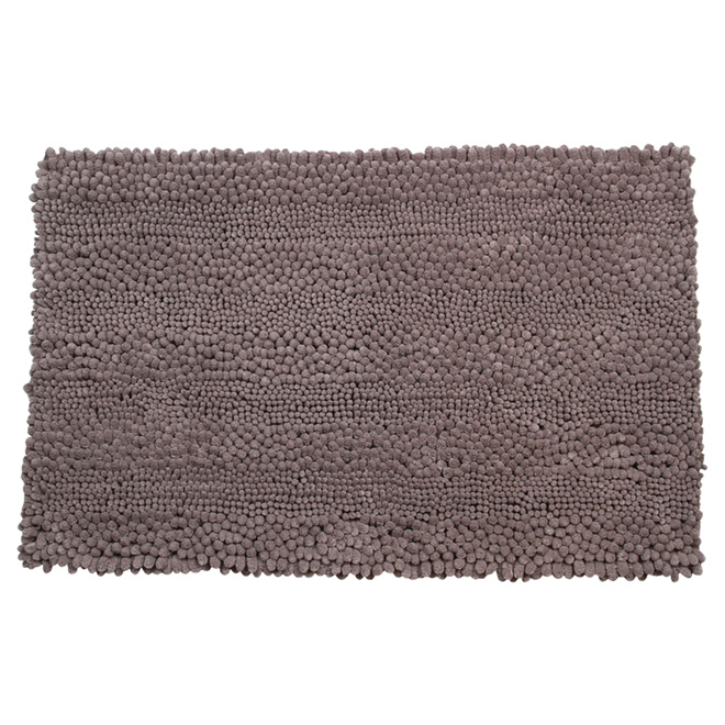 "Bath Mat - Chenille - 20"" x 32"" - Dark Grey"