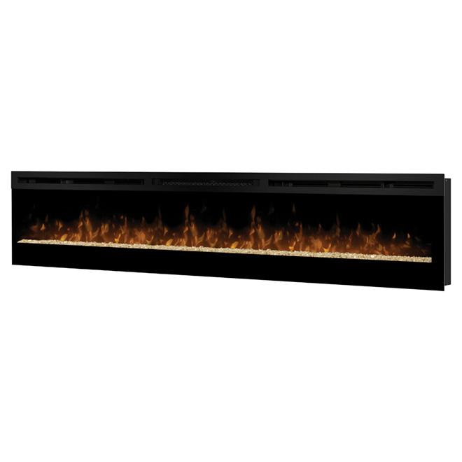 Foyer Electrique Long : Foyer �lectrique galveston w noir rona