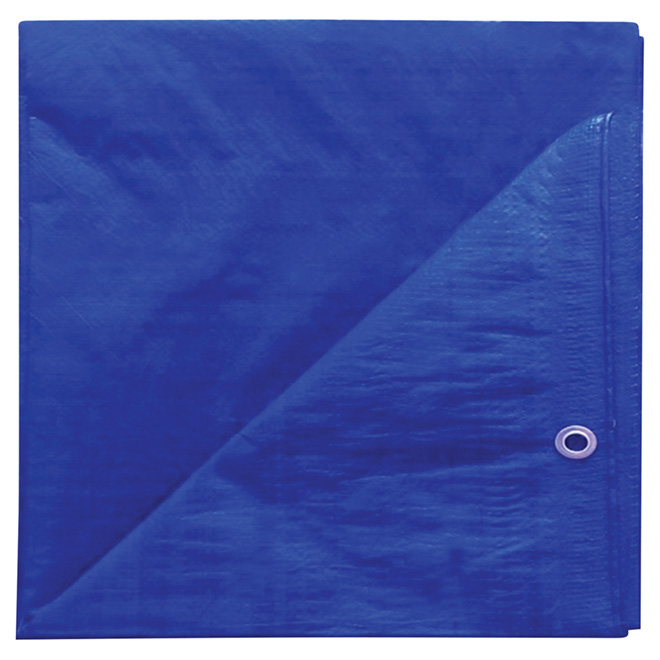Polyethylene Tarpaulin, blue - 10 ft x 12 ft