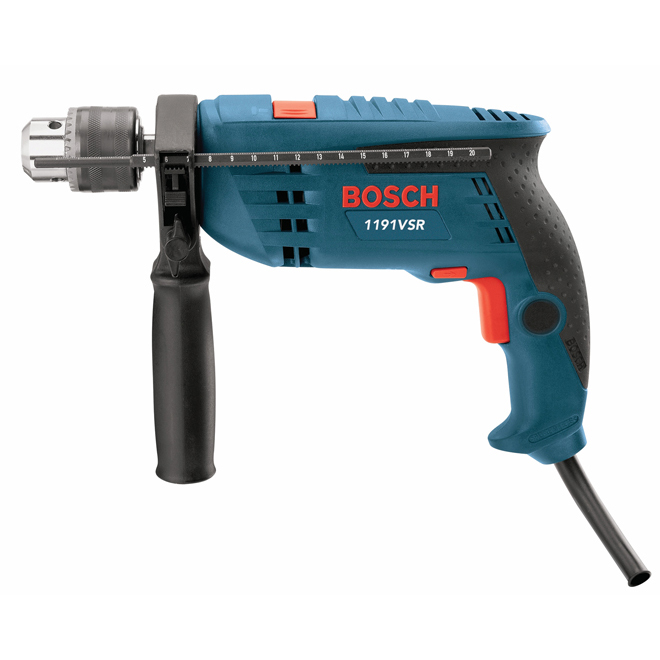 Variable Speed Hammer Drill Kit - 7 A - 1/2''