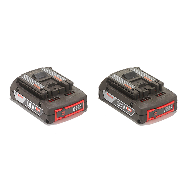 Paquet de 2 batteries 18 V lithium-ion