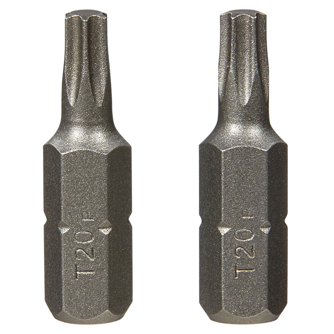 """Extra-Hard"" Torx Screwdriver Bit- #20 -1"" -2-Pack"