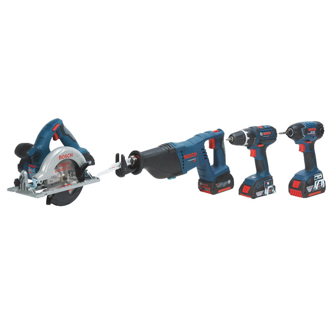 18 V Blue Composite Set of 4 Tools