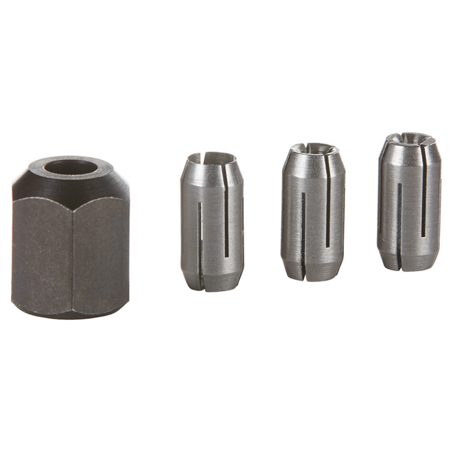 Replacement Collets and Nut Kit - 4 Pieces