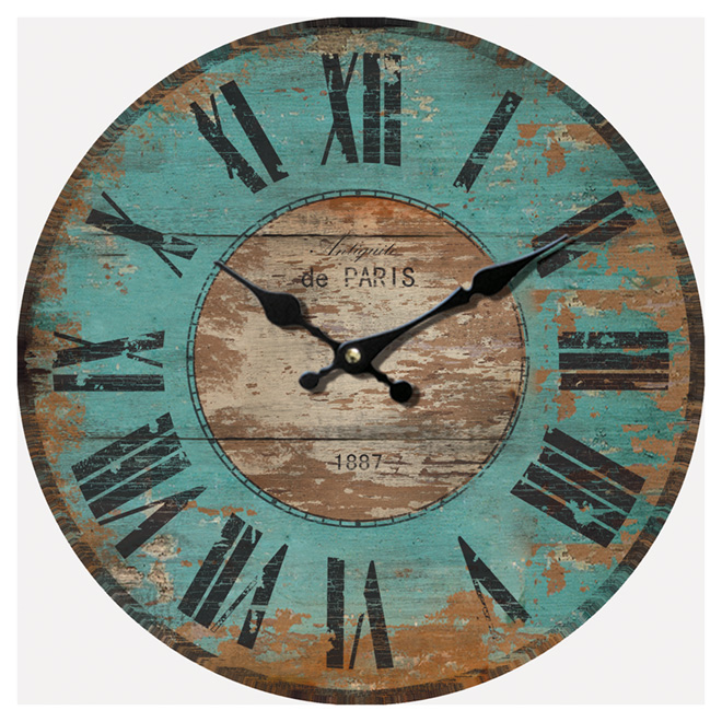 Wall Clock - Antiquité de Paris - 12""