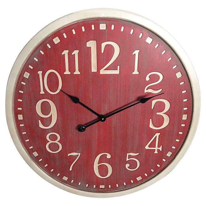 Round Wall Clock - 70 cm x 4.5 cm - Red