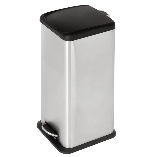 30-L Fingerprint-Proof Wastebasket