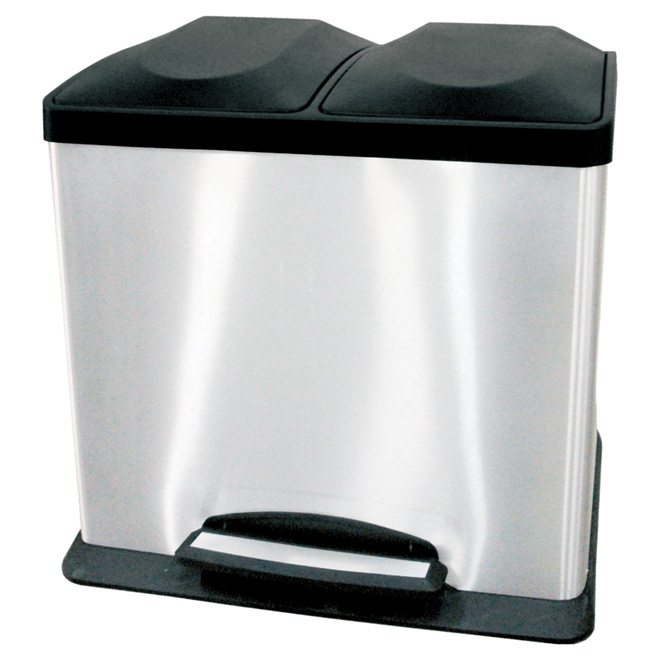 36-L Fingerprint-Proof Wastebasket