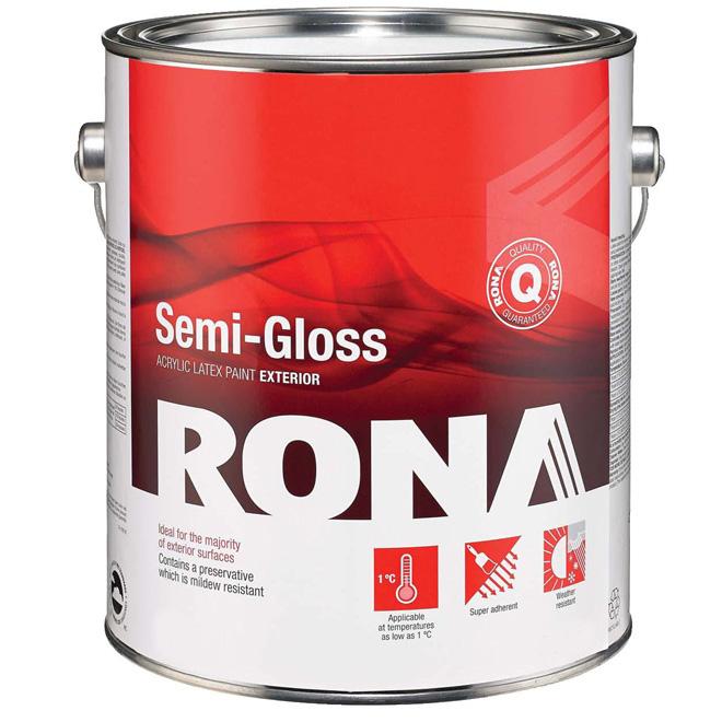 Paint Semi Gloss Finish Exterior Acrylic Latex Rona