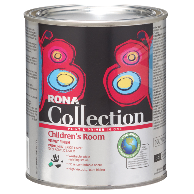 Interior latex paint and primer children 39 s room rona for Best interior paint and primer in one