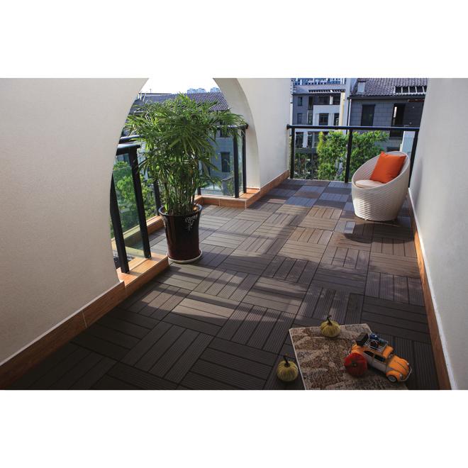 Tuile patio en composite 12 x 12 boite de 10 caf for Couvre plancher pour patio exterieur