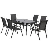 Patio Dining Set - Florence - Grey - 6 Places