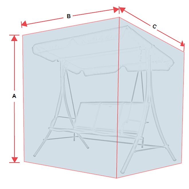 housse pour balan oire de patio 3 places polyester gris rona. Black Bedroom Furniture Sets. Home Design Ideas