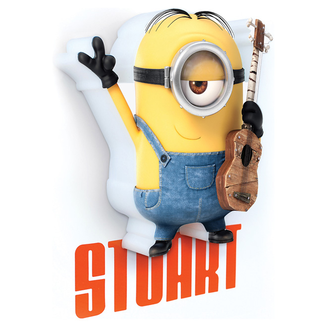 """Minion Stuart"" 3D Night Light"
