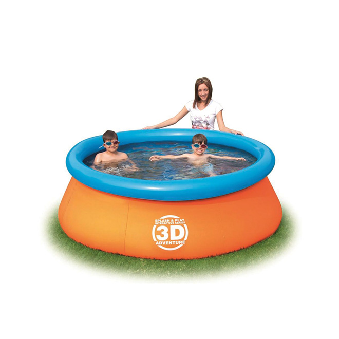 3D Adventure Inflatable Round Pool - 7'