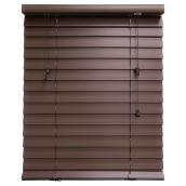 Horizontal Faux Wood Blind - Espresso - 24