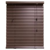 Horizontal Faux Wood Blind - Espresso - 48