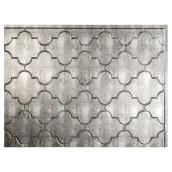 Backsplash Panel - Monaco - PVC - Silver