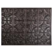 Backsplash Panel - Traditional - PVC - Smoked Pewter