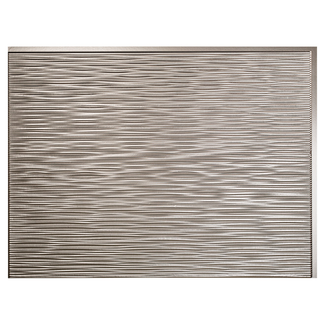 Backsplash Panel - Ripple - PVC - Brushed Aluminum